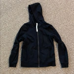 Lululemon black women's hoodie zip up size 10